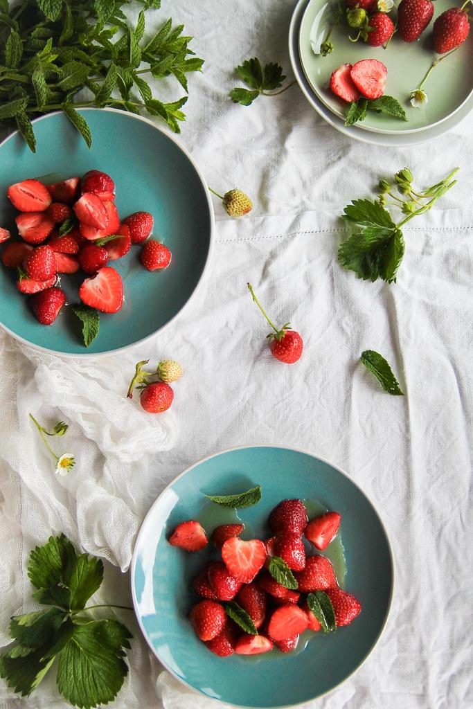 Salade de fraises recette