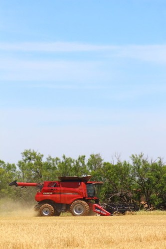 This is the first time I've ever photographed a red combine.