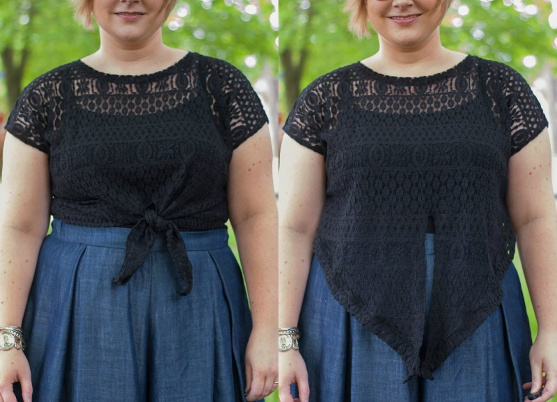 lace tie top Collage