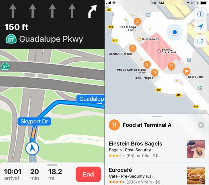 Maps iOS 11 iPhone 2x