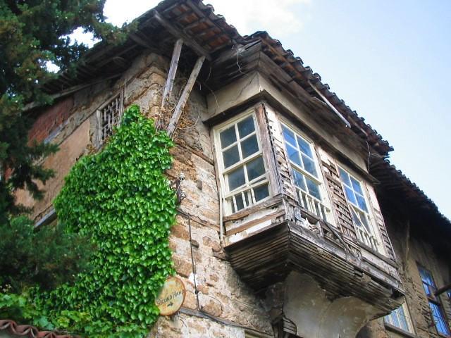Windows of an old house, Ottoman style, Kaleçi, Antalya