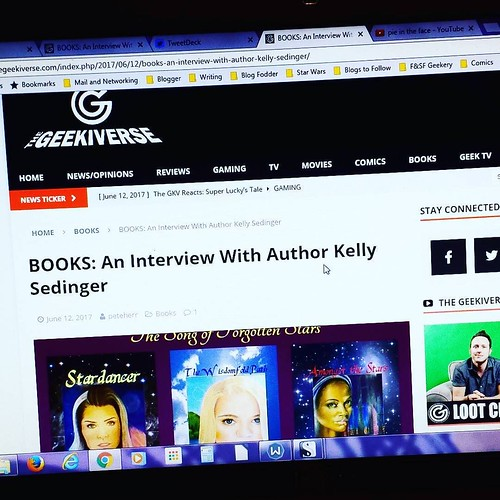 Did you read my interview at TheGeekiverse.com yet? No? Well GO, folks!  #amwriting