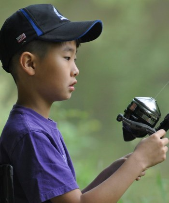 Photo of a young angler