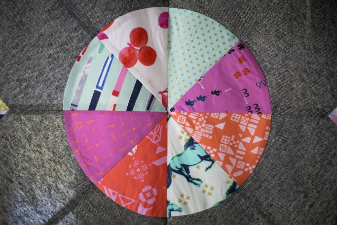 Pieced compass - before quilting