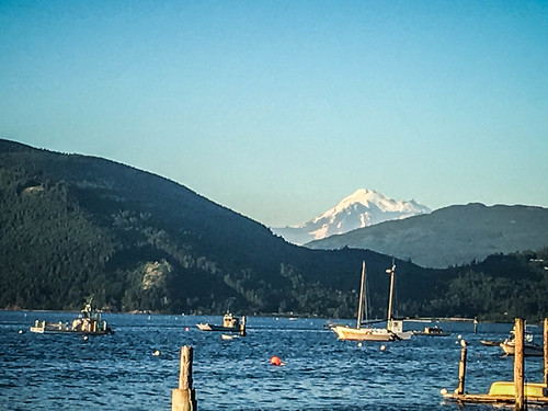 Mount Baker over Samish Bay