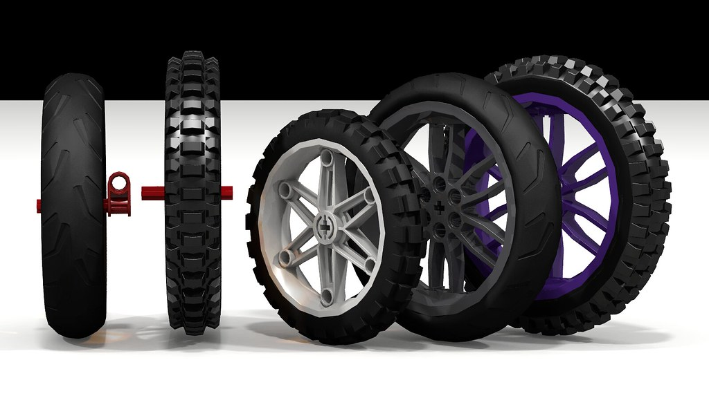 Lego 88516 vs 11957 Motorcycle Tire  The Lego 11957 knobby   Flickr