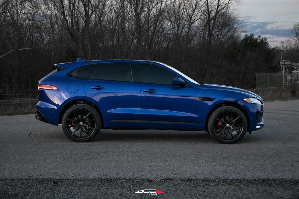 Caesium Blue Jaguar F Pace On 22 ACE Alloy Convex Flickr