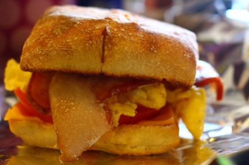 Breakfast sandwich game strong.