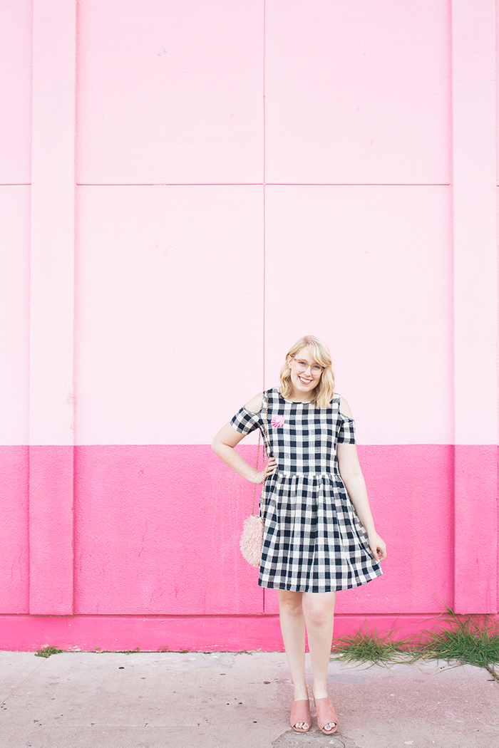 austin fashion blogger writes like a girl gingham dress pink mules15
