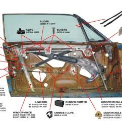 1967 68 cougar door parts diagram [ 2048 x 1365 Pixel ]