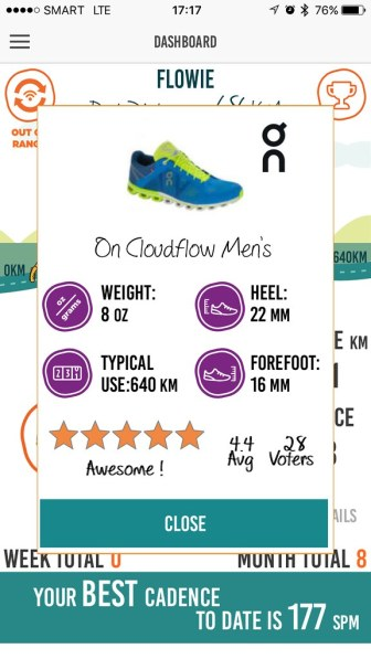 MilestonePod gives you a better appreciation of your shoes.