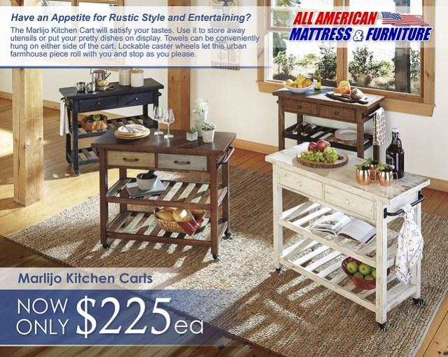 Marlijo Kitchen Cart SmallVersion D300-266-466-566-766