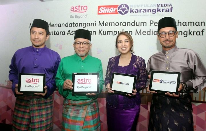 Astro & Karangkraf Jalin Kerjasama Strategik Hasil & Edar Kandungan