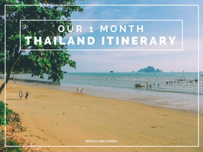 Thailand Itinerary(1)