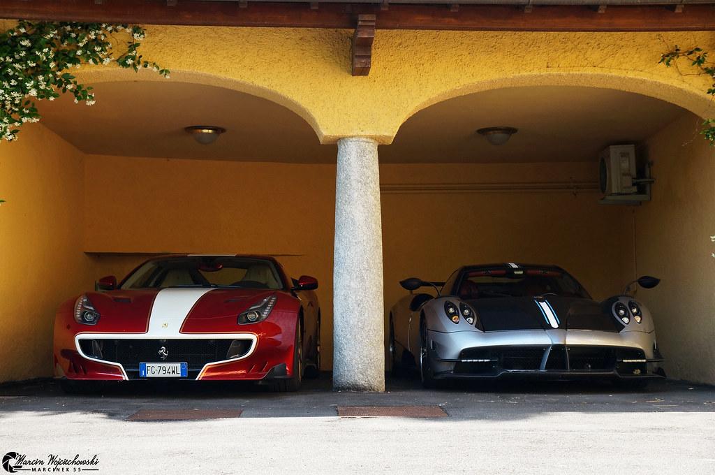Ferrari F12 TDF  Pagani Huayra BC  Both cars are owned