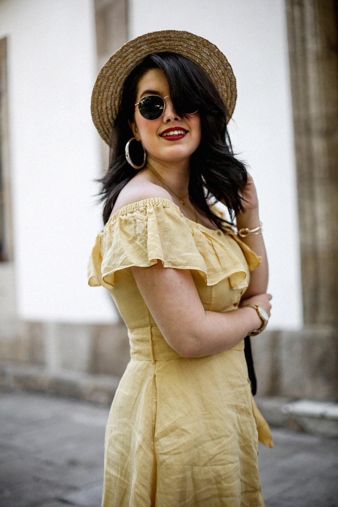 vestido-amarillo-hombros-descubiertos-zara-chanel-vintage-vestiaire-collective8