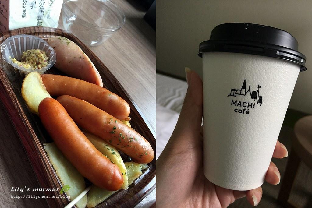 在Lawson買的熟食香腸跟拿鐵咖啡,味道都很好哦!