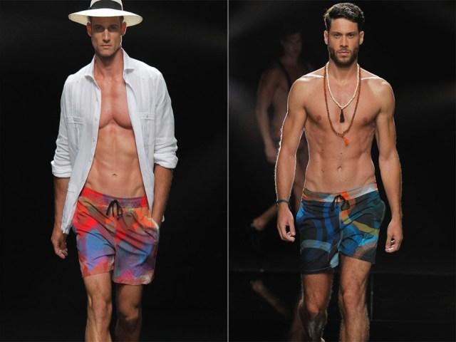 Moda baño masculina con bañadores estampados de pantalón