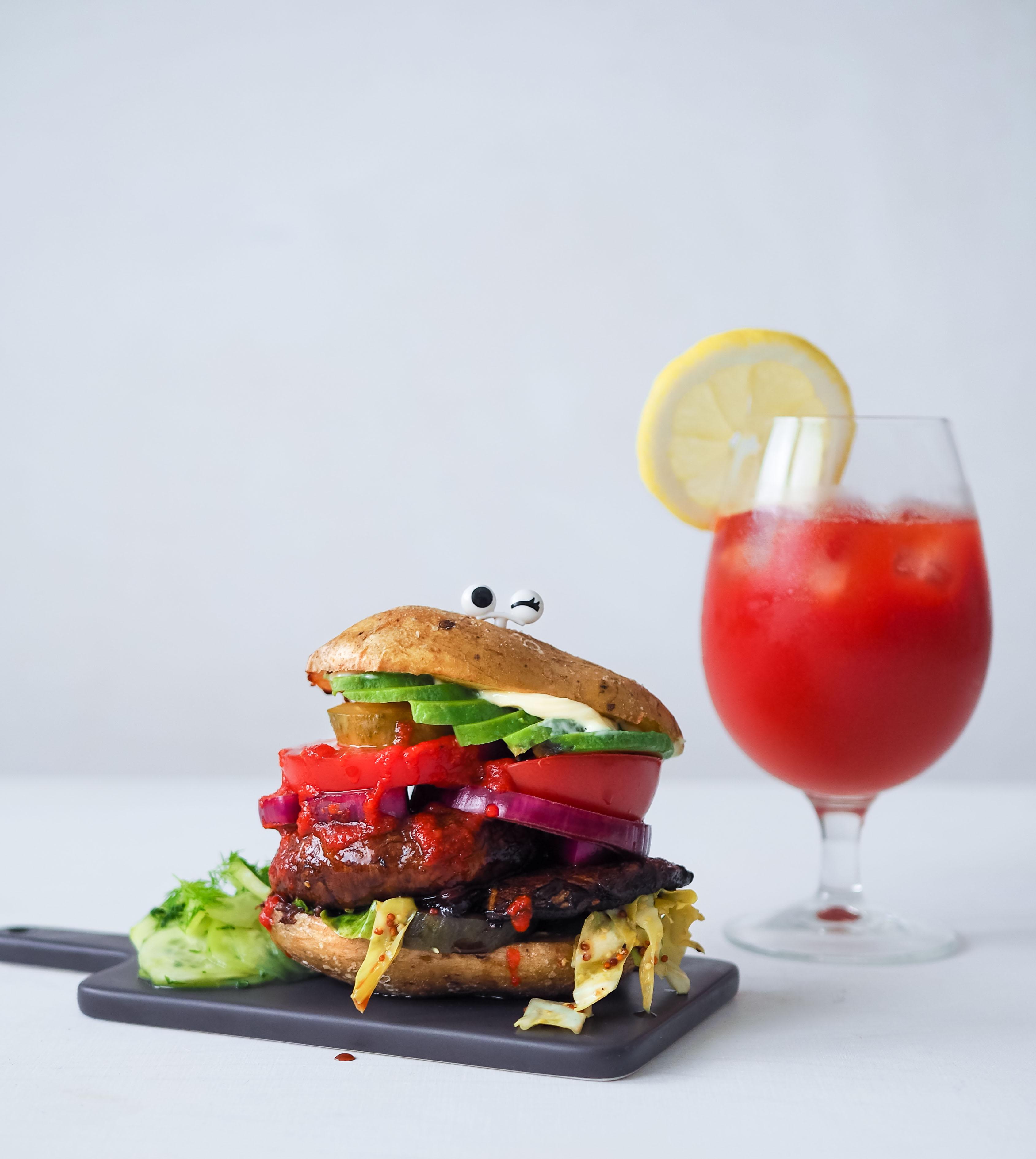 vegaaninen perunankuoriburgeri