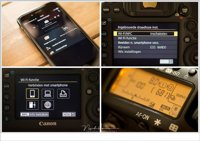 De camera aansturen met de smartphone geen extra mogelijkheden. Het tot stand brengen van een verbinding vergde wel wat hoofdbrekens.