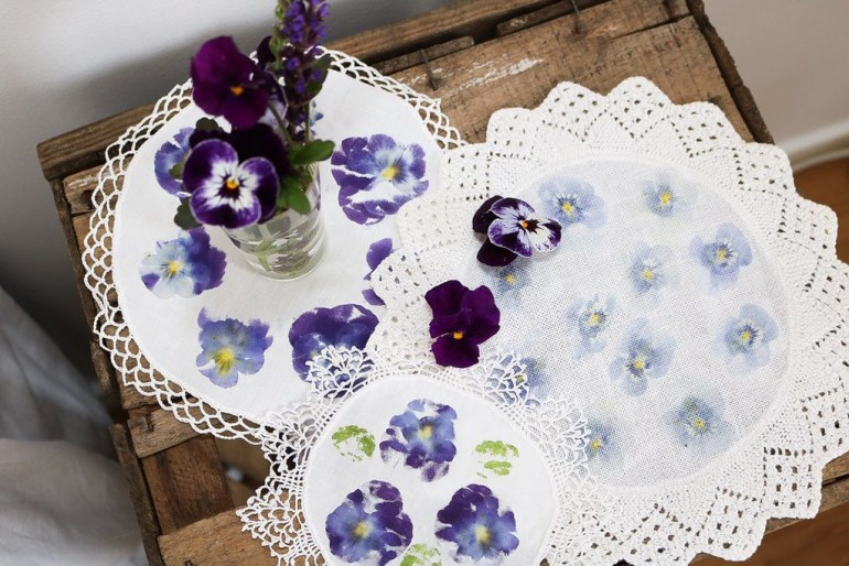 26 Katarina dukar blomtryck Monthly Makers tyg