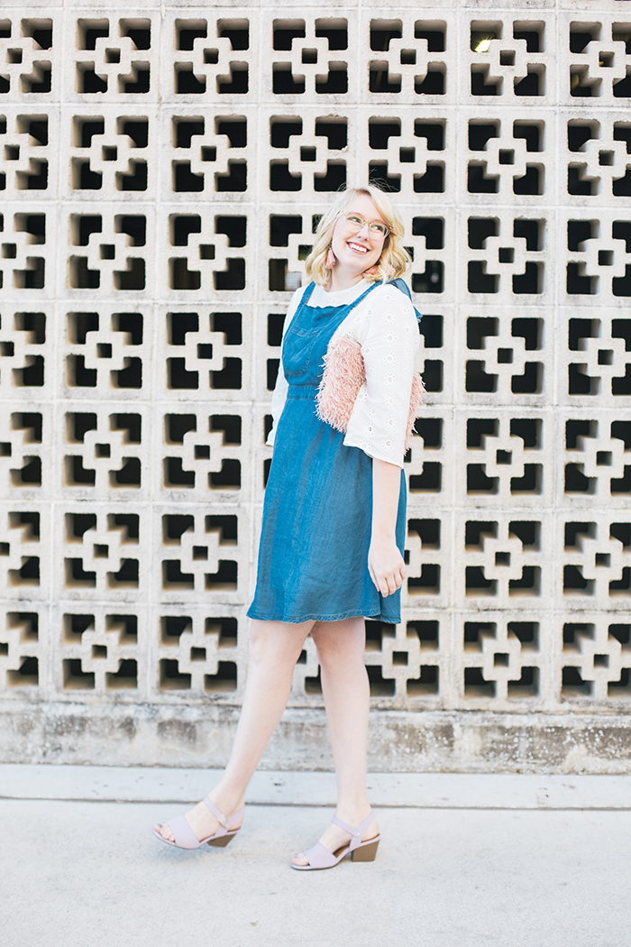 austin style blogger writes like a girl pastel and denim dress outfit8