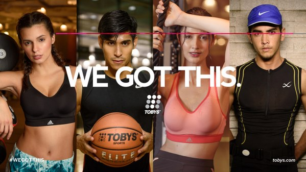 """Complementing its new """"We Got This"""" campaign, Toby's Sports also launched its e-commerce site in support of every individual, athlete or not, in their goal to maintain a healthy and active lifestyle."""