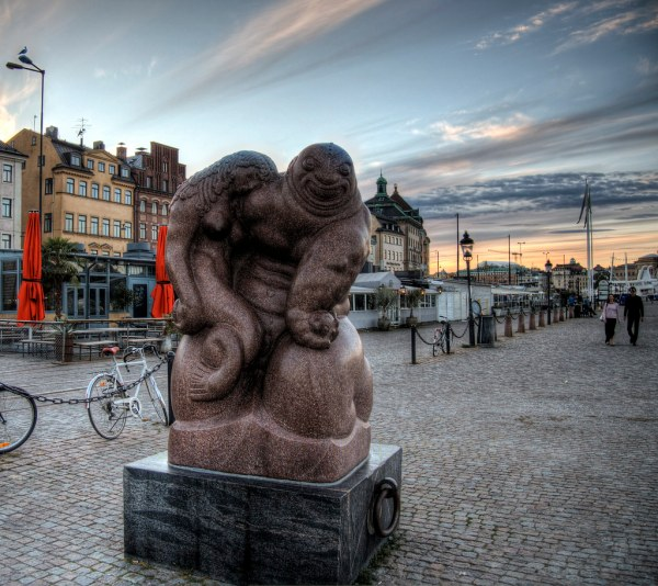 Statue Waterfront Gamla Stan Stockholm