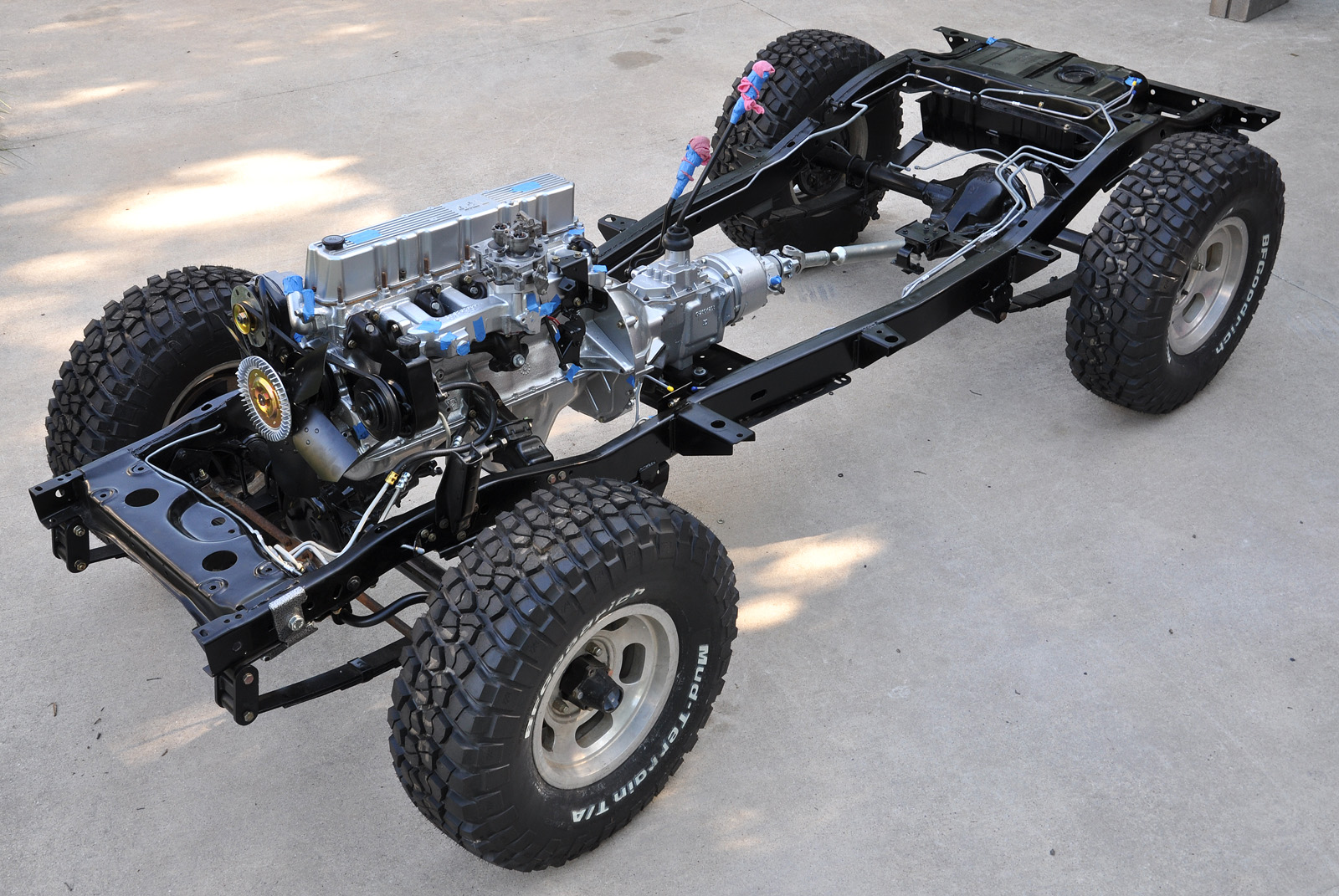 hight resolution of here is my cj frame with hot rod flat not so flat in my opinion