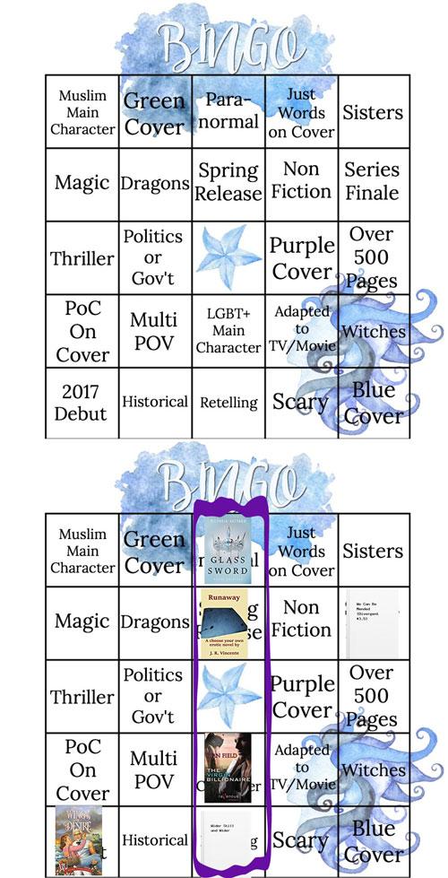 My Bookish Bingo Spring 2017 Card @Jlennidorner