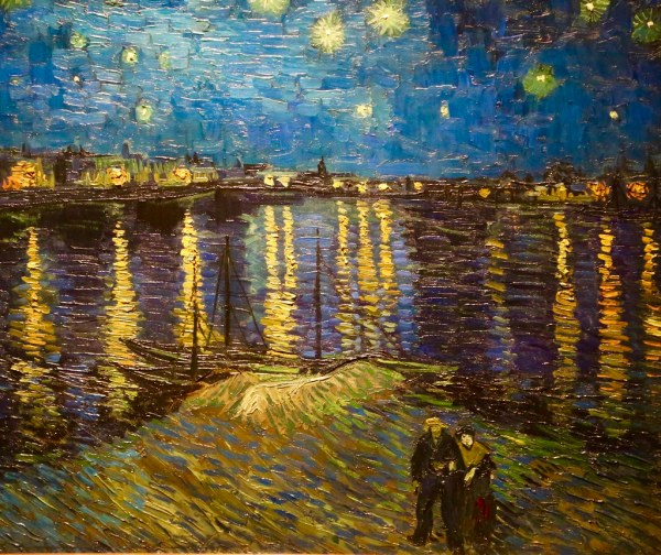 Stars. Mystical Landscape Monet Kan