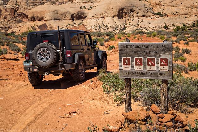 Entering Canyonlands National Park