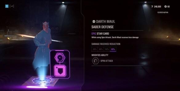 Star Wars Battlefront - Darth Maul Epic Star Card