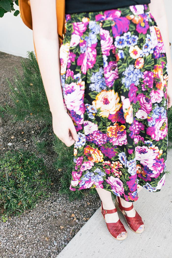 austin style blogger vintage floral midi skirt14
