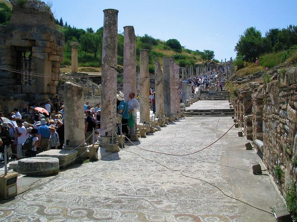 Curates Street, the main artery of Ephesus