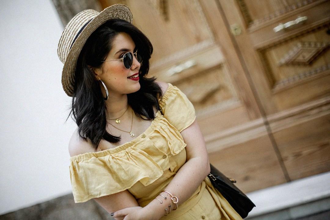 vestido-amarillo-hombros-descubiertos-zara-chanel-vintage-vestiaire-collective4