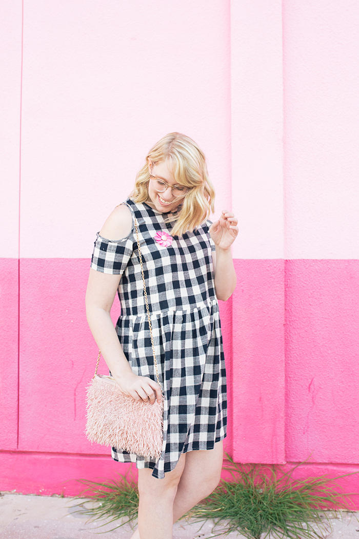 austin fashion blogger writes like a girl gingham dress pink mules6