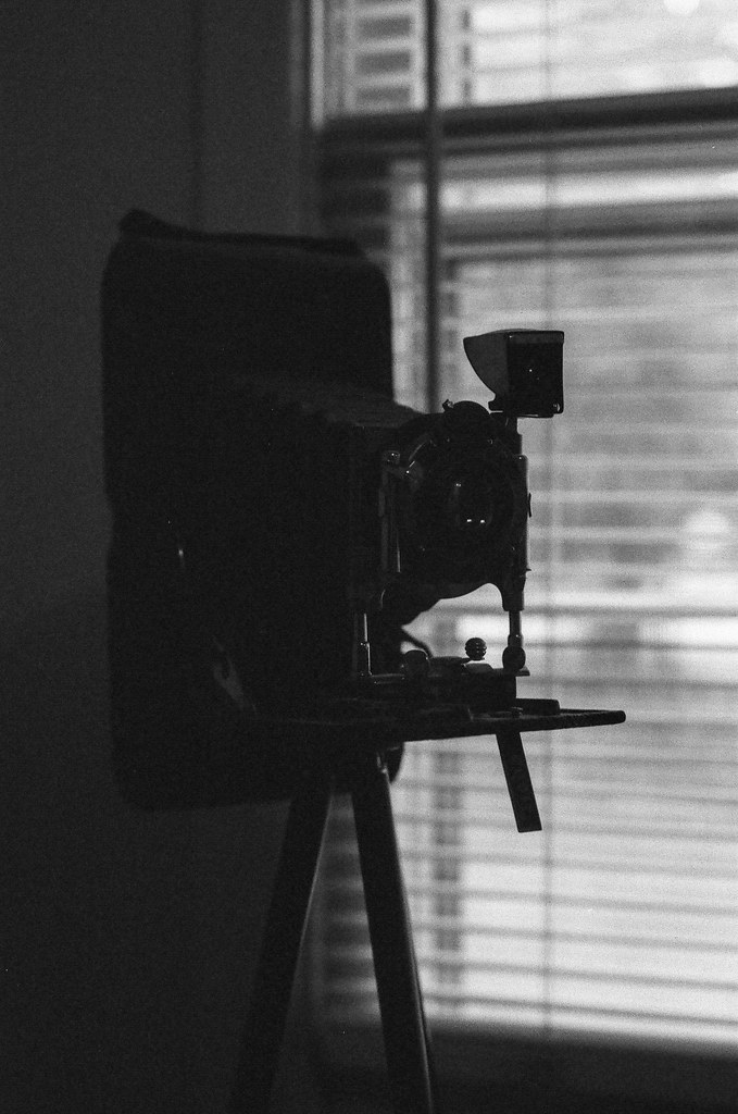 Folding camera in the shadows