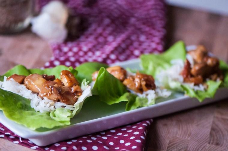 Sesame Chicken Lettuce Wraps