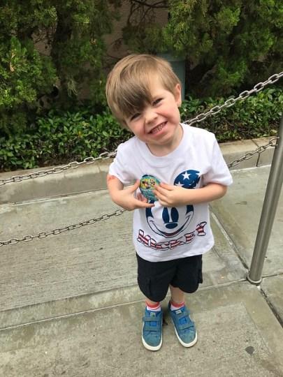 birthday boy at Disneyland