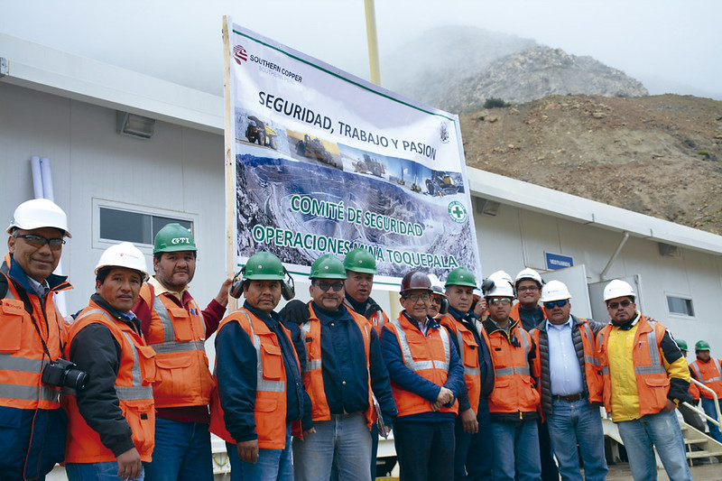 Integrantes del Comité Interno de Seguridad de Operaciones Mina Toquepala.