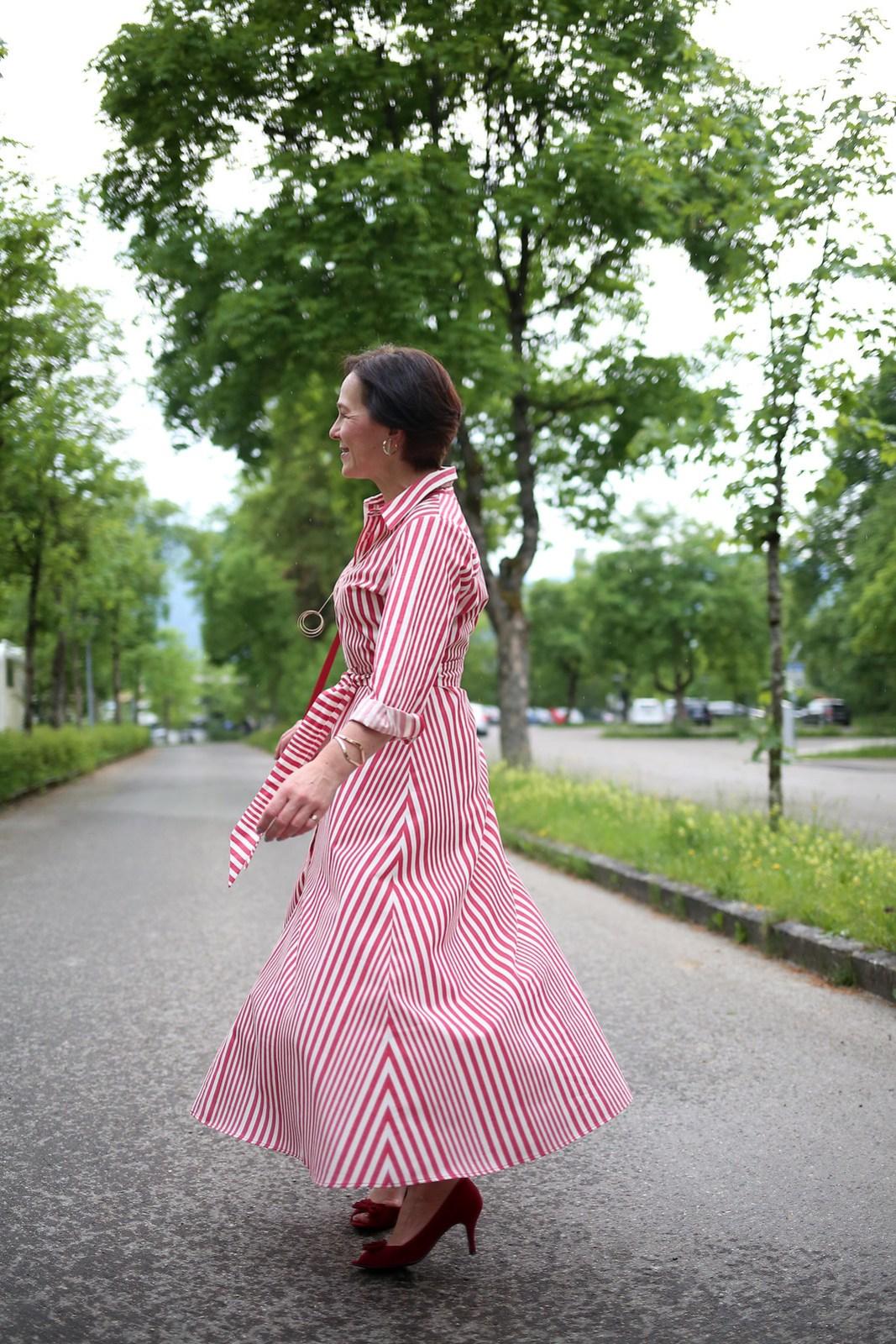 Zara Red Stripes Midi Dress LadyofStyle