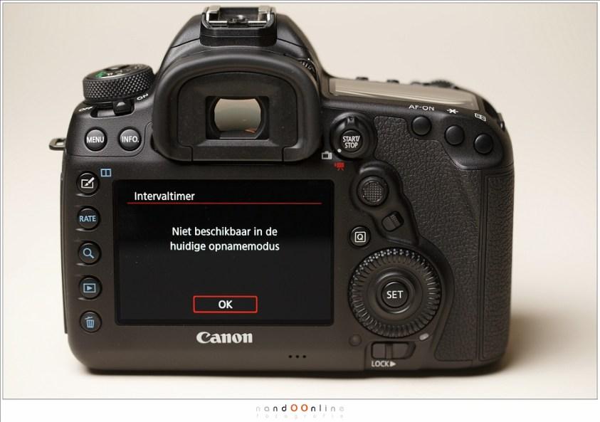 De camera geeft duidelijk weer als iets niet mogelijk is.