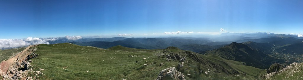 panoramic view from top of mount tymfrestos in eurytania, greece