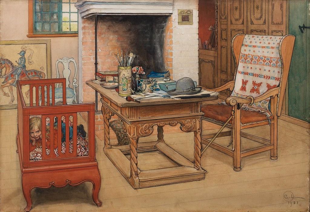 Carl Larsson  PeekaBoo 1901  This watercolour shows Ca  Flickr