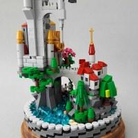 Micro Scale Castle in a Glass Dome  BrickNerd - Your ...