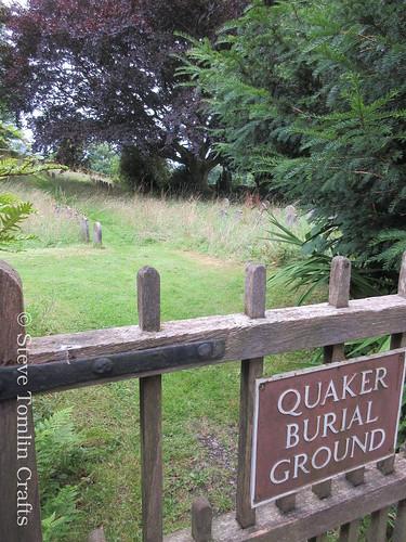 Scything the Quaker burial ground