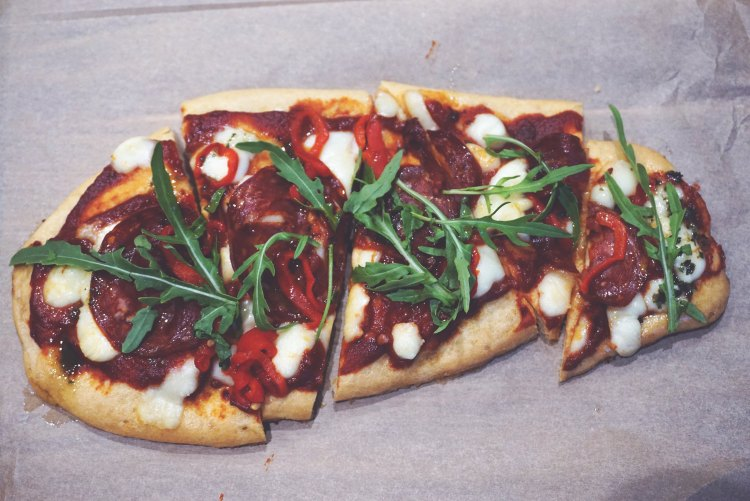 Gluten free pizza from Beyond Bread Islington / dinner menu