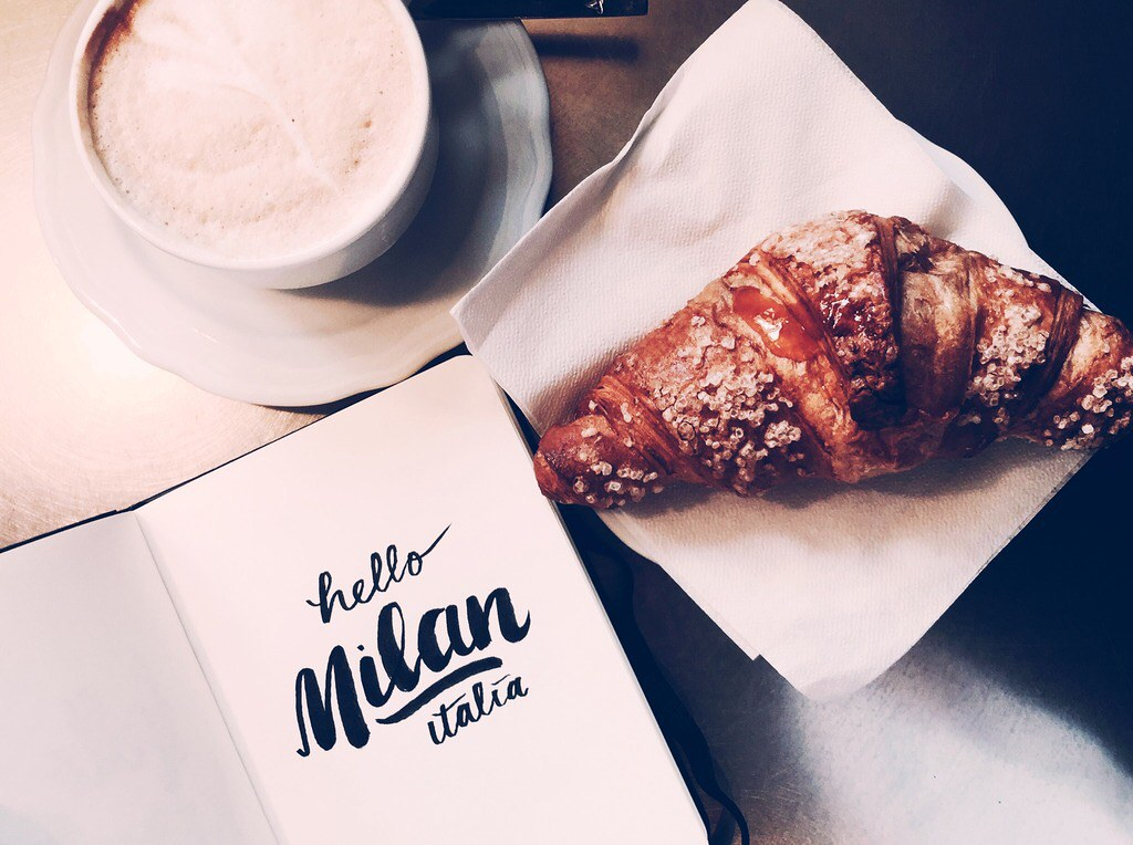 Coffee and Apricot Brioche in Milan