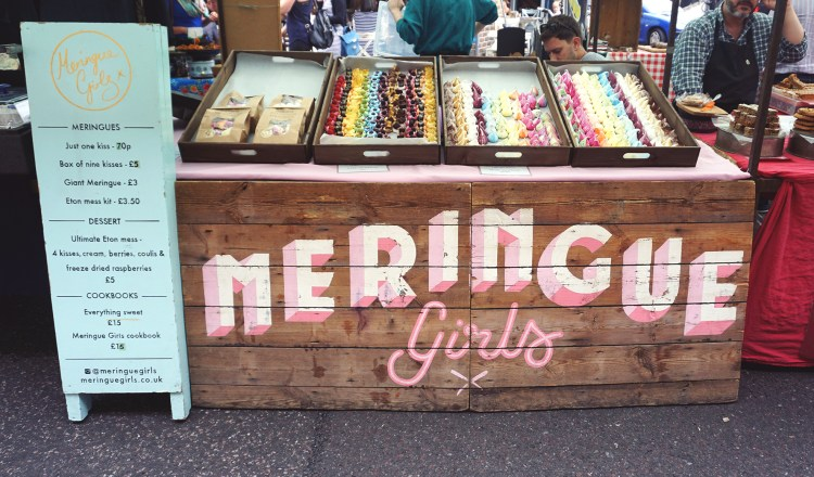 Meringue Girls market stall | gluten free Broadway Market guide | Hackney, London